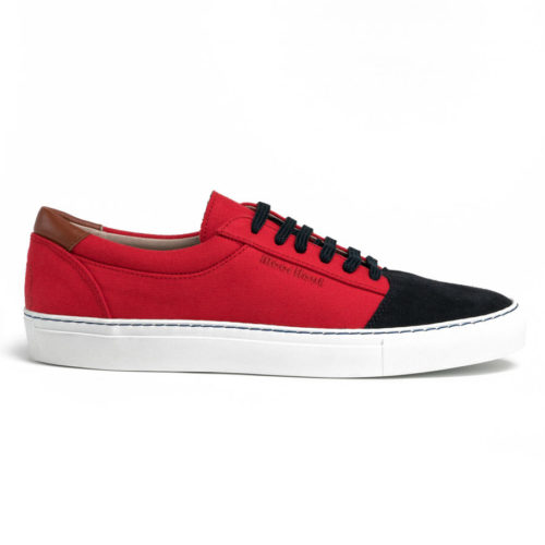 red and navy blue sneakers ademir Meer Hout