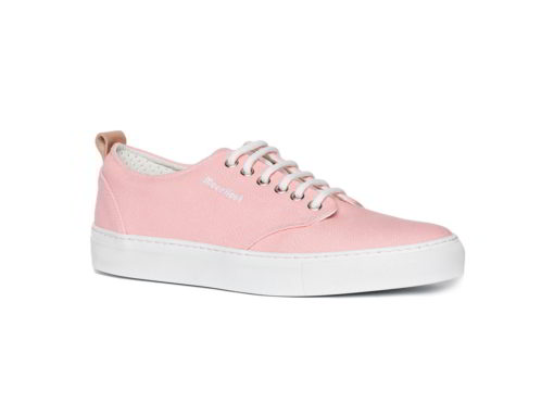 canvas sneakers woman and man pink color model pienk