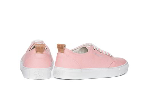 pink cotton canvas sneakers model pienk made in Spain