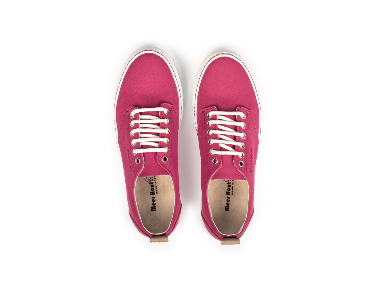 Fuchsia fabric sneakers for women and men Meer Hout