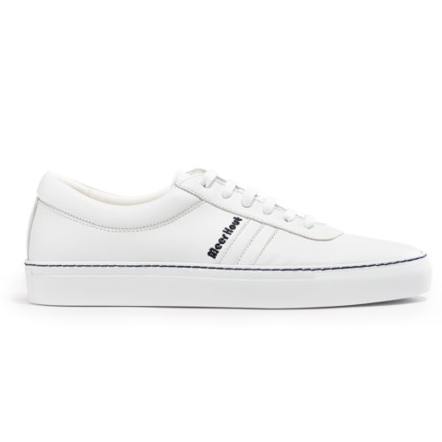 White leather sneakers for women and men brand Meer Hout model thot20